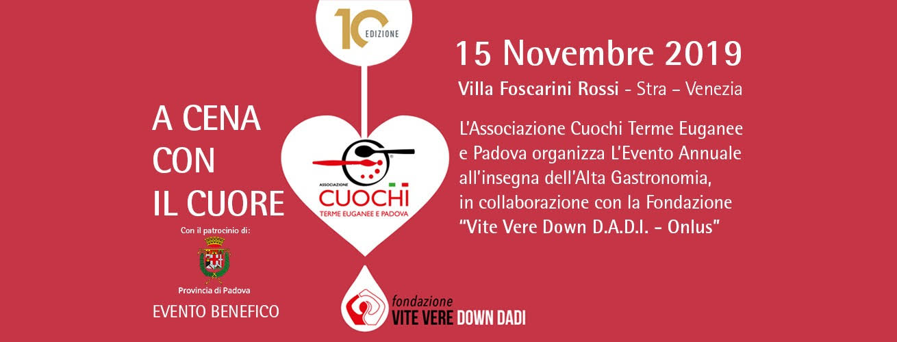 "A cena con il cuore 2019: evento di beneficienza per realizzare l'hotel ""SlowDown Santa Sofia"""